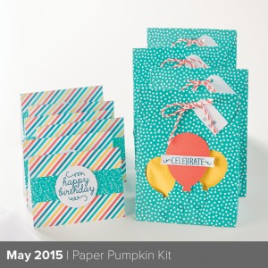 Check out the Happy Birthday Stamp from the May Paper Pumpkin Kit