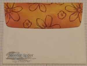 It's easy to simply repeat your pattern onto the envelope flap for a quick and easy coordination.