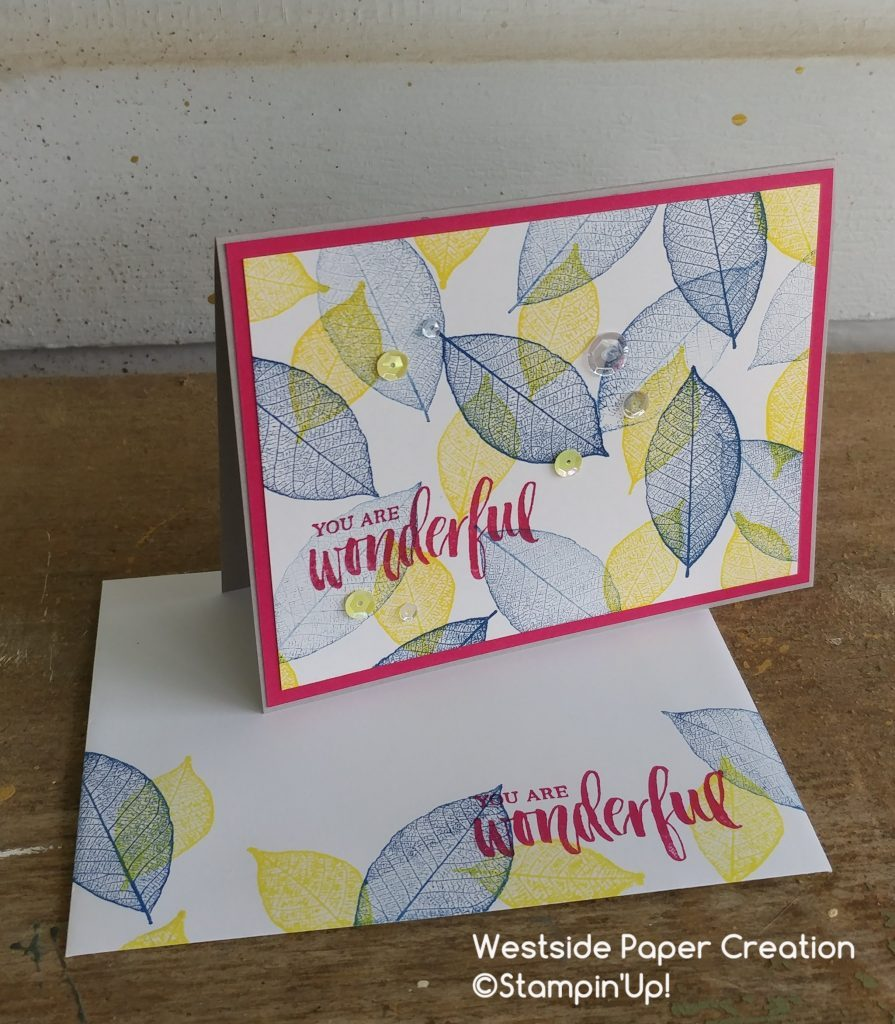 The Rooted In Nature Stamp Set is full of beautiful leaves that will make it easy to create all sorts of paper projects