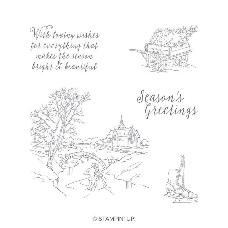 Cambridge Christmas stamp set