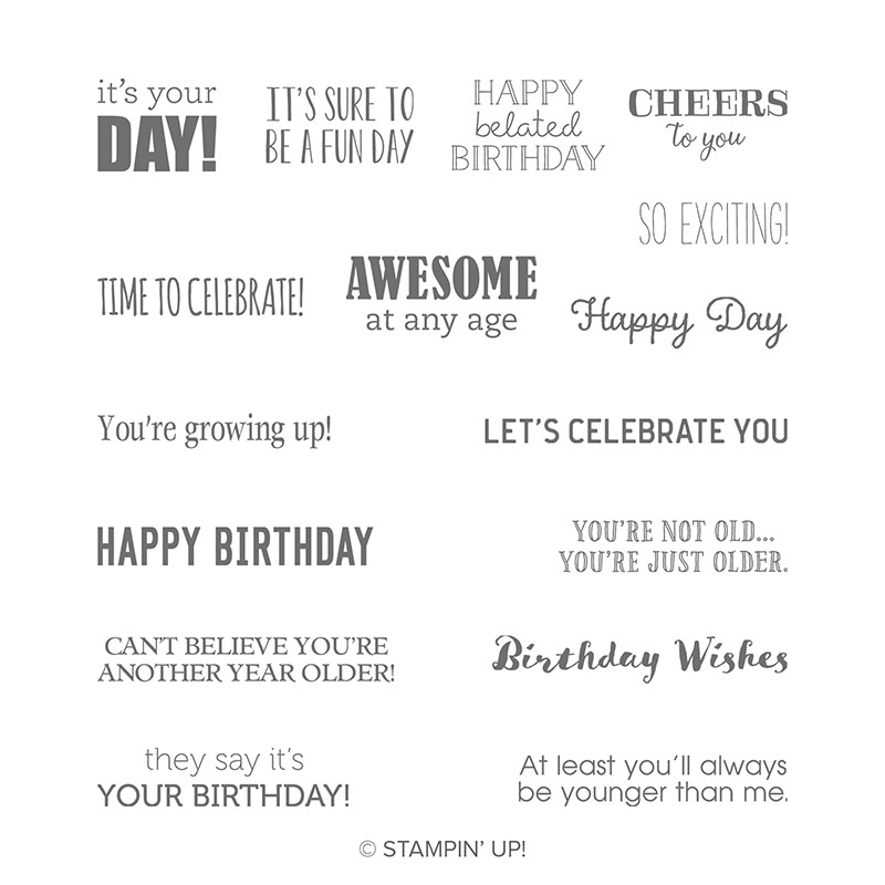 Itty Bitty Birthday Stamp Set